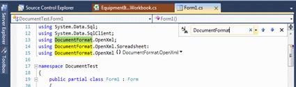 Visual Studio Productivity Power Tools Find Box