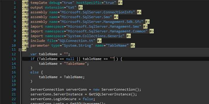 Changing T4 Template Background Colors in Visual Studio – Random ...