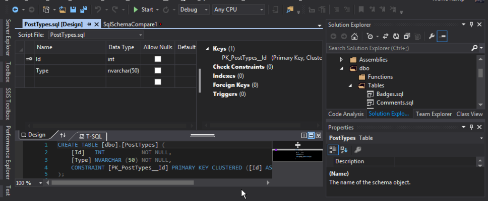 visual_studio_database_project