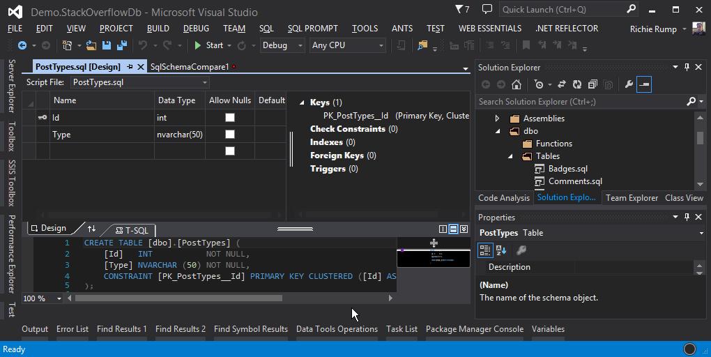 visual_studio_database_project
